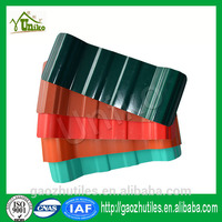 hot red asa coated commercial anti corrosion plastic roofing tile