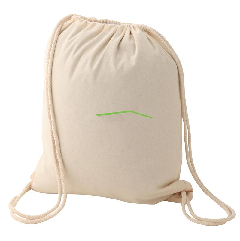 Latest design foldable drawstring backpack,cotton cloth bag