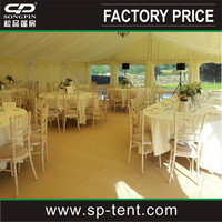 Traditional wedding tents for sale 12x20m decorated with linings and curtains