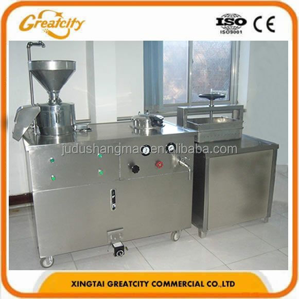 Multifunction Stainless Steel Soy milk/ Tofu machine with Pneumatic presser