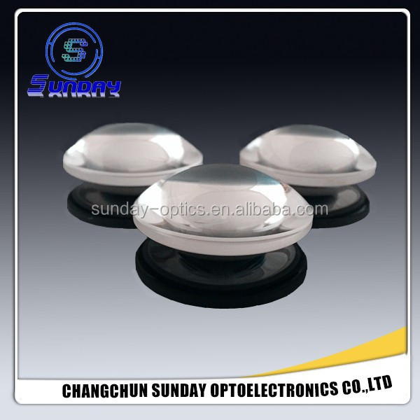 Magnifying glass biconvex lens