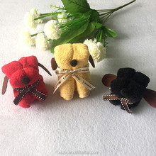 Hand Towel 100% Cotton Dog Figurine Towel Cake Favors