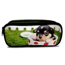 PVC Double Layers 2 zipper pencil case for College Student