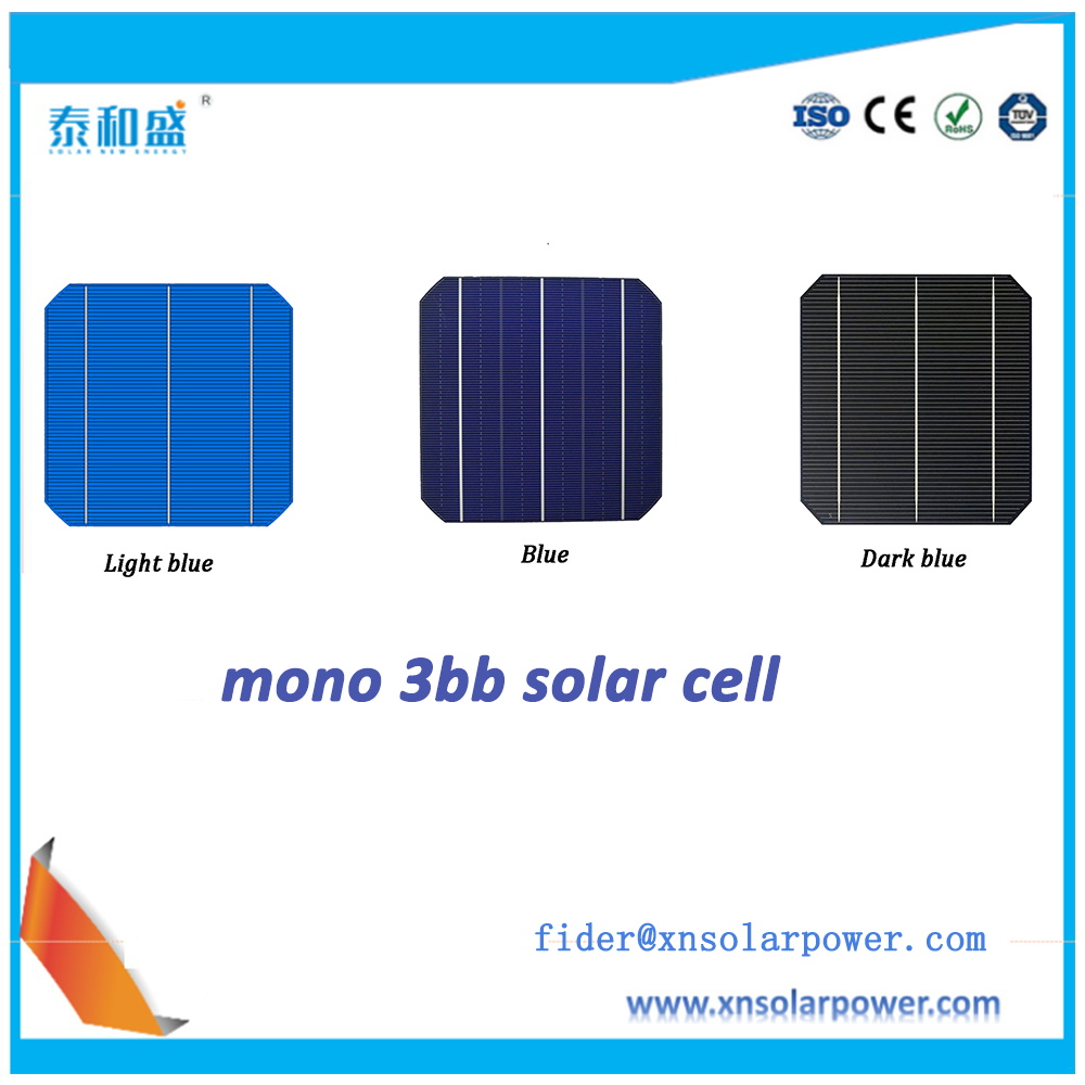 China manufacturer factory direct 3bb/4bb sun power monocrystalline solar cell for sale