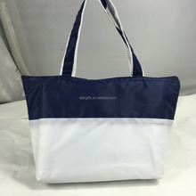 Color Block Wholesale Cheap Promotional Fashion Rolling Shopping Tote Bags