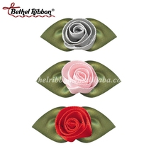 Custom multi colors mini ribbon rose