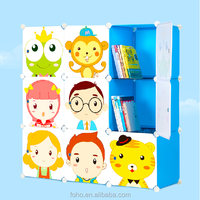 Hot selling 9 cubes girl folding decorative storage cube
