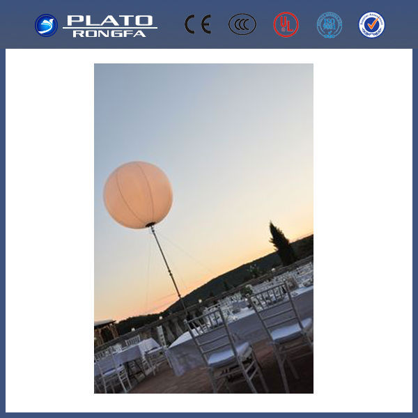 2014 top sale inflatable stand light balloon, halogen decoration stand balloon