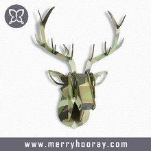 Customized DIY animal head wall decor wooden deer head 3d puzzle