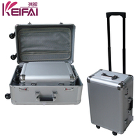 Aluminum Materials Professional Cosmetic Trolley Beauty Case