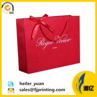 Offset printing art paper shopping bag with handle