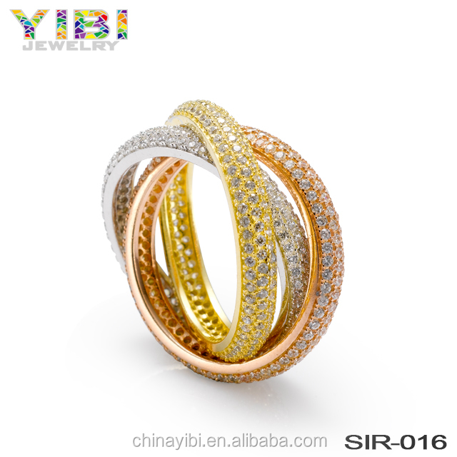 latest new design ladies wedding jewelry gold finger ring model design