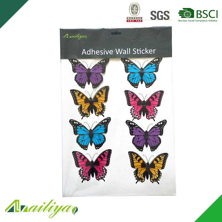 ALY-HD008 Widely Used Durable 3D Butterfly Animal Wall Stickers
