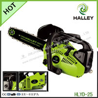 Wood cutting machine 25.4cc tools petrol mini chain saw with ouligen