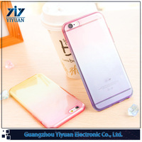 for iPhone 6S Transparent TPU Soft Gradual Change Color Phone Case