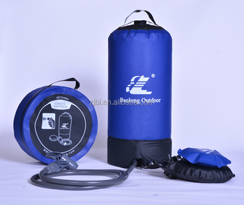 6) foot pump step up pressure shower