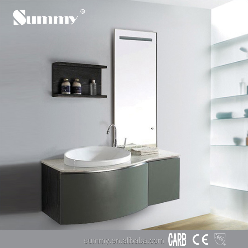 Hotel used Contemporary home furniture modern bathroom cabinets vanity with Side Cabinet