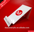 Customized acrylic mobile phone display stand with silk screen logo
