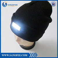 Unisex 5 LED Knitted Flashlight Beanie Hat/cap for Hunting, Camping, Grilling, Auto Repair, Jogging, Walking