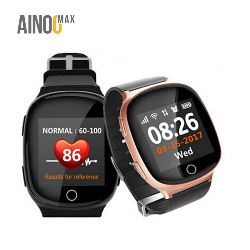 AinooMax <strong>D100</strong> 3g 2g gps mtk 3337 elder smart android calling monitor kids talking watch for kids elder old