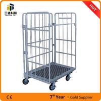 stainless steel rolling cage trolley