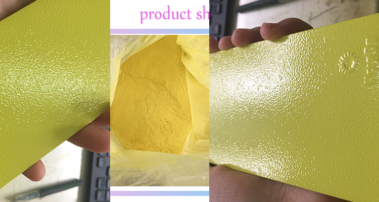 Ral1016 yellow powder coating fine texture sheet metal epoxy polyester powder coating
