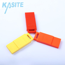 Custom wholesale referee coloured emergency plastic survival whistle