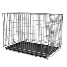304 Stainless steel dog cage kennel with cover dog cage box
