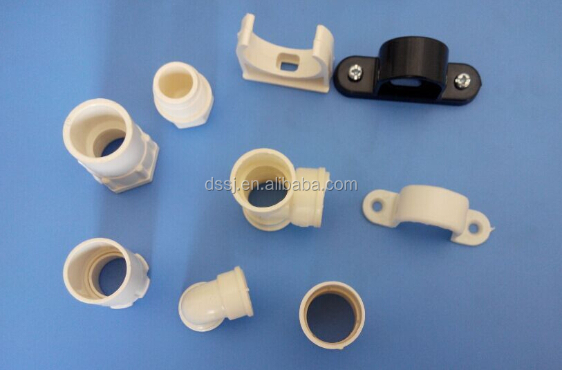 Electrical plastic conduit pipe fitting pvc pipe clips for Buy plastic pipe