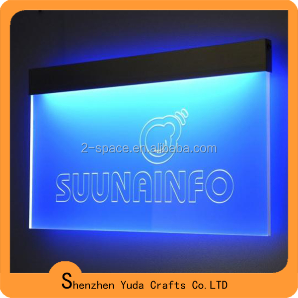 logo printing desk top acrylic led sign holder