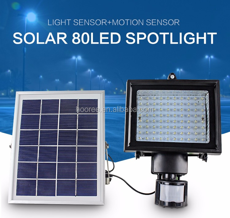 solar motion sensor light High lumen / solar flood light / wall lamp outdoor / 80 led solar light sl-70