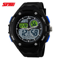 2015 new casual wrist for men military 2 time zone japan quartz digital outdoor sports dive 5atm waterproof skmei 1018 watch