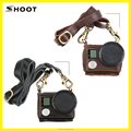 SHOOT New Style Gopro Leather case cover with 40.5mm UV filter for Hero 3+/4