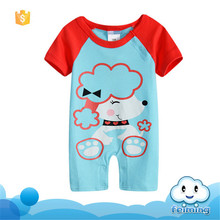 SR-249B hot sale fashion organic cotton clothing kid baby boys rompers spanish baby clothes