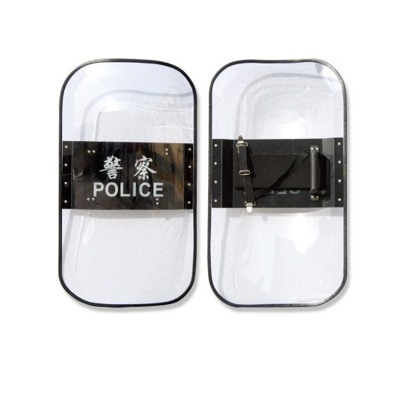 policeman used polycarbonate pc clear solid shield