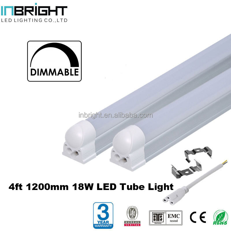High quality 18W 1800lm 4 feet dimmable led t8 tube fluorescent light