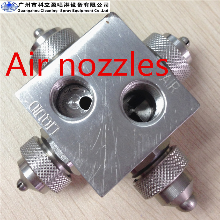 4 Spray caps stainless steel air atomizing nozzle
