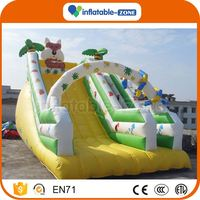 OEM ODM new arrival bottom price inflatable slide for yacht jungle theme inflatable slide