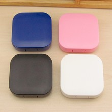 HK003 Colourful Contact Lens Box Holder Container Case Soak Soaking Storage Eye Care Kit Double Case Lens Cases