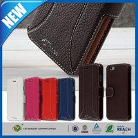 C&T New leather folding wallet pu case for iphone 6