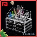 WFZ423450 Top Selling Jewelry and Cosmetic Storage 2 Pieces Acrylic Makeup Organizer