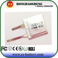 Hot!!!small rechargeable battery 1mm tickness 3.7v 15mAh battery