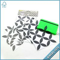 Different material mirror tile stickers