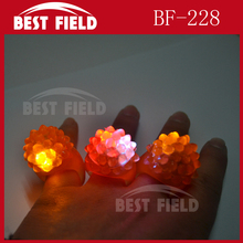led Soft Blinking Bumpy flashing jelly ring