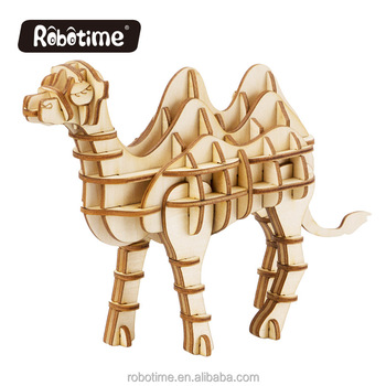 Robotime camel toy for gift decoration natural woonen animal