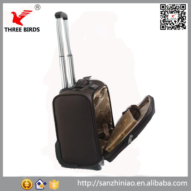 China factory pilot box type school bag man women boarding laptop cabin trolley suitcase polyester