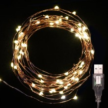 USB powered 5V ip44 Christmas micro led copper wire invisible led string lights