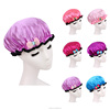 promotional purple color customized shower cap