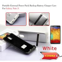 Newest 4200Mah External Battery Case For Samsung Galaxy Note 3 Rechargable Backup Battery Power Bank Charger Case