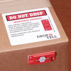 Drop N Tell impact label 50G damage impact indicator fragile caution sticker